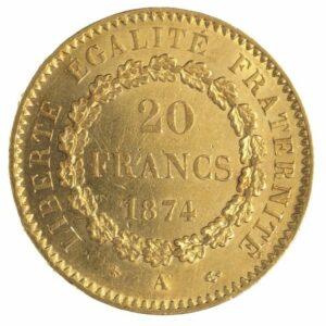 20 FRANCS GÉNIE DEBOUT
